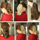 (16 COLOR ) BLONDE Ponytail Extension Hairpiece wavy Claw clip in on Hair Piece