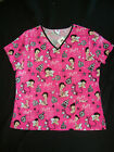 """BETTY BOOP & DOG PUDGY  100% cotton NWTS  SCRUB TOP """" BETTY BOOP #9 """" $28.99 CAD"""