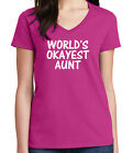 great female leaders of the world - Great Birthday Gift Ladies V- Neck T-shirt Worlds Okayest Aunt Tee - 1614C
