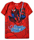 Boys Spiderman T Shirt New Kids Marvel Short Sleeved Cotton Top Ages 2 - 8 Years