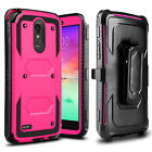 For LG Stylo 3 Plus 2017/LS777 Shockproof Kickstand Belt Clip Phone Case Cover