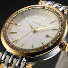 Taylor Cole Stainless Steel Crystal Date Lady JP Quartz Wrist Watch 3 Colors C