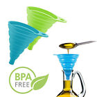 2pc Silicone Funnel Foldable Kitchen Gadget Deflector Water Tools Soup Cooking