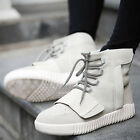 Korea Pop Mens Lace Up Flat Casual Sports Sneakers High Top Dance Shoes Size New