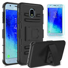 For Samsung Galaxy J3 2018/Orbit/Achieve/Star/Aura Hybrid Case+Screen Protector