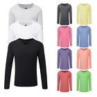 Girl's Russell Comfortable Crew Neck Long Sleeved HD T-Shirt Size 5/6-13/14 YRS