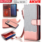 iPhone 7 / Galaxy S8 Plus Leather Wallet Case Magnetic Removable Flip Card Cover