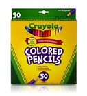 Crayola Colored Pencils - 50 Bright Bold Colours - Long Lasting - Pre Sharpened