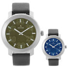 Adixion Round Dial Men's Analog PU Leather Strap Water Resistant Wrist Watch