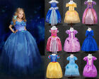 frozen childrens costume - Princess Sofia Cinderella Costume Party Long Gown Dress Up for Little Girl Kids