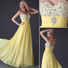Beaded Wedding Bridesmaid Prom Ball Gown Mesquerade Evening Cocktail Party Dress