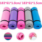 YOGA MAT EXERCISE FITNESS AEROBIC GYM PILATES CAMPING NON SLIP 15mm THICK ##HT
