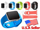 Silicone Wrist Bracelet Sport Band Strap For Apple Watch iWatch 38mm/42mm