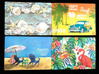 """Placemats 18""""x12"""" Mouse Pad set of 4 Shells Flamingo Woody Car Beach Chairs NEW"""