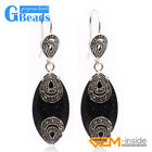 Fashion 14x32mm Marquise Stone Tibetan Silver Dangle Earrings For Women Gift