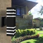 Modern Up&Dowm Outdoor Exterior Light Fixture Wall Lamp Sconce IP65 For E27 Bulb