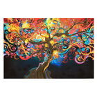 "20""x13"" TREE POSTER ABSTRACT TRIPPY PSYCHEDELIC ART DECO PRINT LARGE IMAGE Home"