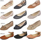 New Womens Casual Slip On Flats Round Toe Ballet  Ballerina Flats Shoes Comfort