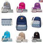 3Pcs Women Girl Canvas Cute Backpack Rucksack School Travel Shoulder Teen Bag