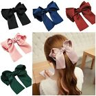 """5"""" Satin Double Tail French Barrette Bow Hair Clip Pins Clips Girls/Ladies"""