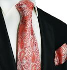 Red Paisley Silk Tie and Pocket Square