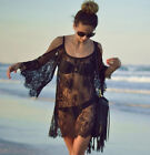 US 2017 Summer Women's Beachwear Swimwear Bikini Beach Wear Lace Blouse Dress HX