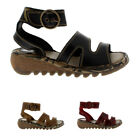 Womens Fly London Tily Leather Ankle Strap Roman Open Toe Holiday Sandals UK 3-9
