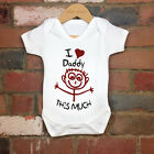 2017 Funny 100% Cotton I Love Daddy This Much Baby Bodysuit Grow Nontoxic Ink