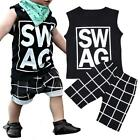 2PCS Kids Toddler Baby Boys Summer T-shirt Tops+Shorts Pants Outfits Clothes US