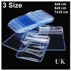 Individual Coin & Badge Holders Clear Plastic Wallets Envelopes Zip seal