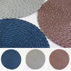 Round Placemats Kitchen Dining Table Mat Brown Gray Blue Place Mat TM-13
