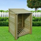 Burley 4ft Outdoor Wooden Log Store  - Also Available With Doors