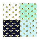 Summer's Day Buzzy Bumble Bee's 100% Cotton Poplin Fabric Patchwork