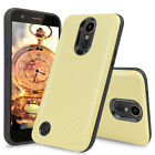 For LG K20 Plus Slim Dual Layer Armor Shockproof Hard Case+Tempered Glass Screen