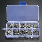 M3 304 Stainless Steel Flat Head Cap Hex Bolt Screws Nuts Washers Assortment Set