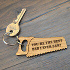 Best Dad I Ever Saw - Fathers Day Keyring for Dad Birthday Gift Present