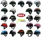 HCI 100 Half Helmet Motorcycle Shorty with Visor DOT Approved XS S M