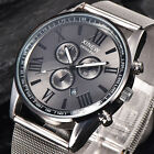 Luxury Men's Watches Date Stainless Steel Analog Quartz Boy Sport Wrist Watch US
