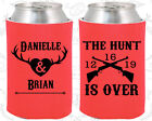 Personalized Wedding Koozies Custom Koozie Gift (258) Deer Antler Wedding Favors