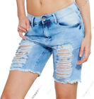 NEW Womens Denim Blue Shorts Distressed Ripped Jean Short Size 6 8 10 12 14