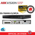 HIKVISION CCTV NVR 4CH IP 1080P CHANNEL HIGH DEFINITION POE DS-7604NI-E1/4P/A
