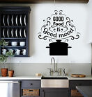 Vinyl Wall Decal Words Pan Profit Food Mood Quote For Kitchen Stickers (1356ig)