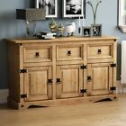 Corona Solid Pine Mexican Living Room Waxed Furniture Sideboard Bookcase Table