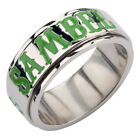 """Sons of Anarchy """"SAMBEL"""" and Clover Stainless Steel Spinner Ring"""