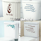 Toilet Sticker / Decal Bathroom Transfer Art Interior Decoration Cover Quote Uk!