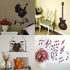 Music Wall Stickers! Modern Instrument Home Vinyl Transfer Graphic Decal Decor