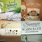 Bathroom Quote Wall Stickers! Transfer Graphic Decal Decor Stencil Bath Sayings