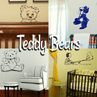 Teddy Bear Wall Stickers! Home Transfer Graphic Kids Decal Cute Decor Stencil