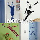 Famous Footballers Football Player Wall Sticker Transfer Decal Boys Gift idea UK