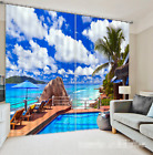 3D Sky water 35 Blockout Photo Curtain Printing Curtains Drapes Fabric Window AU